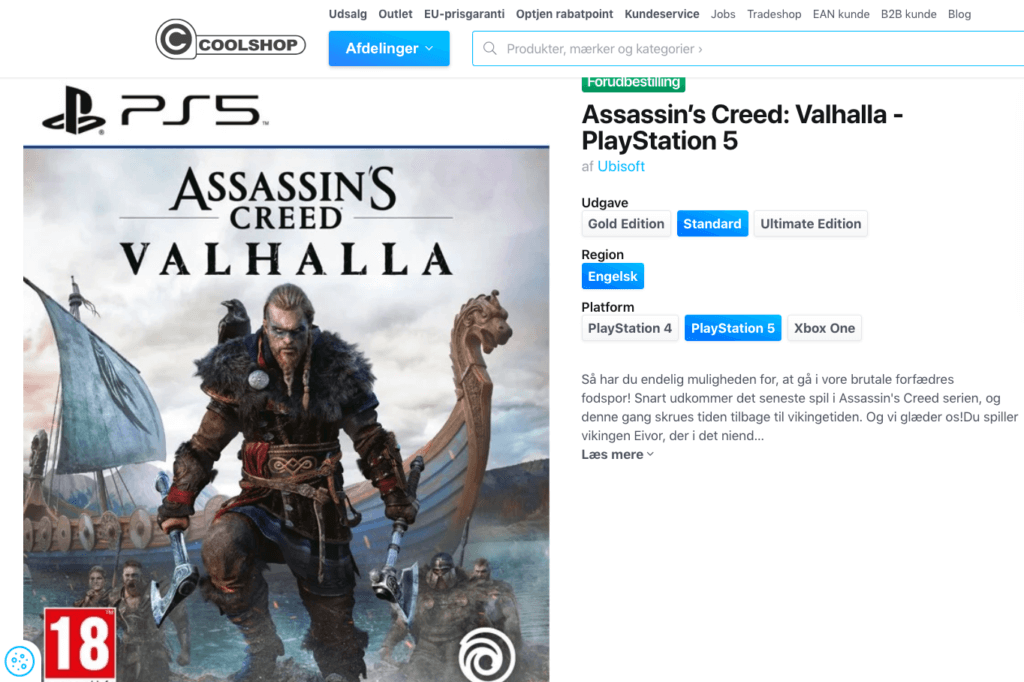 Assassin's Creed - Valhalla - PlayStation 5