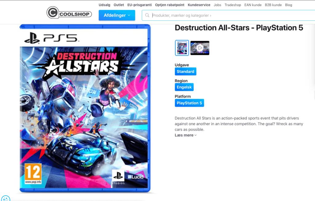 Destruction All-Stars - PS5