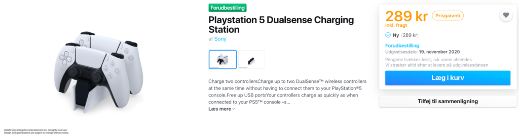 PS5 opladerstation