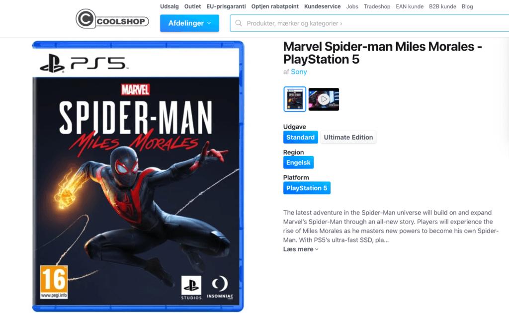 Marvel Spider-man Miles Morales - PlayStation 5