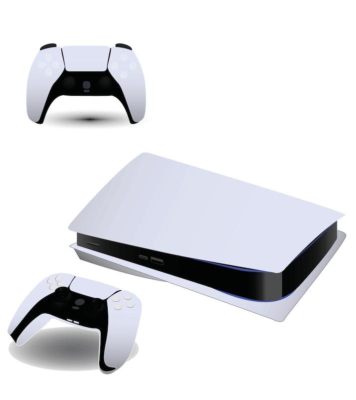 PS5 konsol og controllere