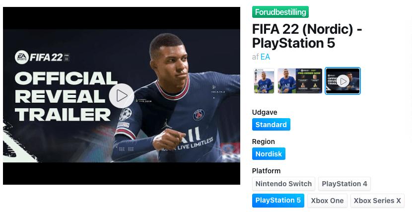 FIFA 22 til PS5